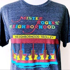 🆕 Mr. Rogers' Neighborhood Trolley T-Shirt Top